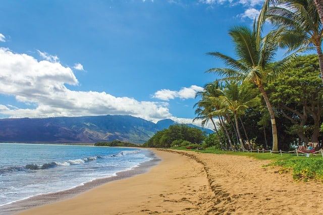 A beach in Hawaii